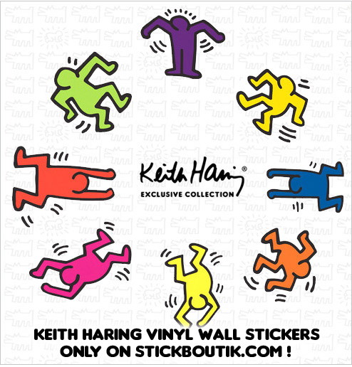 Exclusive Keith Haring PopArt Wall stickers & wall Decals