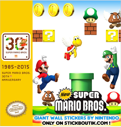 Exclusive Nintendo Super Mario Bros Wall stickers & wall Decals