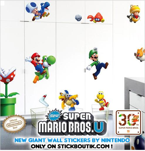 Exclusive Nintendo Super Mario Bros U Wall stickers & wall Decals