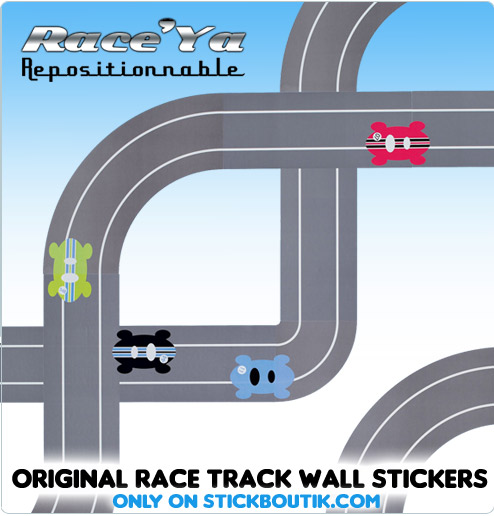Exclusive  race Track stickers & wall Decals