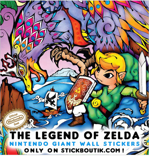 Exclusive Legend of Zelda Wall stickers & wall Decals