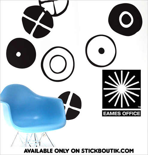 Charles & Ray Eames Official Giant Wall Stickers from the Iconic designers