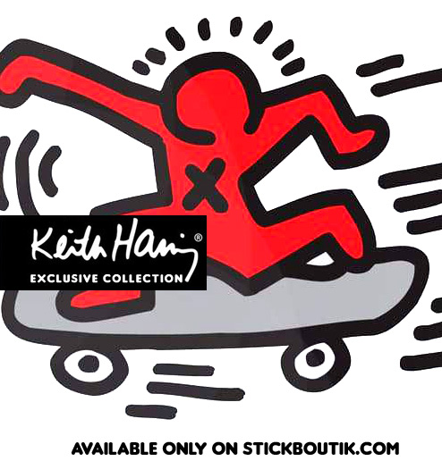 Keith Haring Skater Wall Stickers - Exclusive & Official Keith Haring PopArt wall Stickers