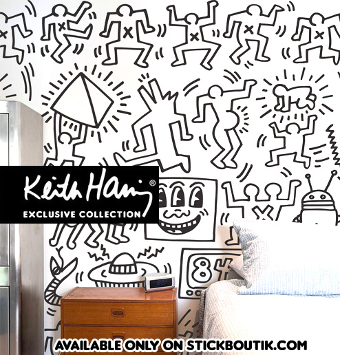 Keith Haring Symbols Wall panels - Exclusive & Official Keith Haring PopArt wall Stickers