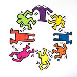 Keith Haring - Stickers muraux