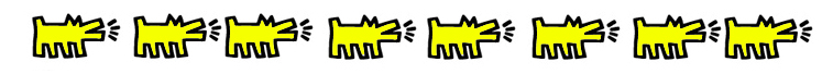 stickers muraux keith haring