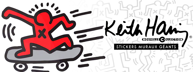 Stickers muraux PopArt - Keith Haring - Collection exclusive