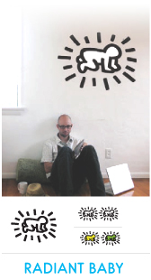 Stickers muraux - Collection Keith Haring