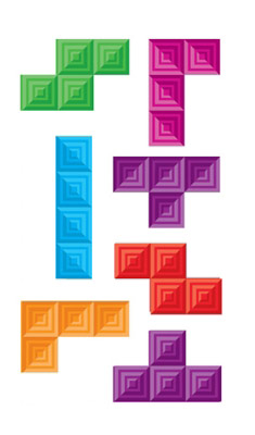 Stickers muraux Tetris Cube - Collection inédite