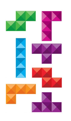 Stickers muraux Tetris Pyramide - Collection inédite