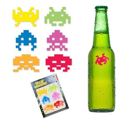 Marques Verres en Silicone  Space Invaders à 4,9 € - Stickboutik.com