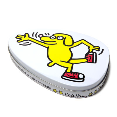 Chocolats 'Skating Dog' - Boite métal  Keith Haring à 6,5 € - Stickboutik.com