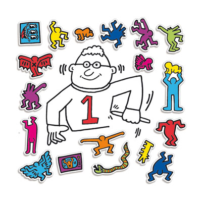 Magnets Keith Haring:  personnages - Vilac - Objets cadeaux Keith Haring sur Stickboutik.com
