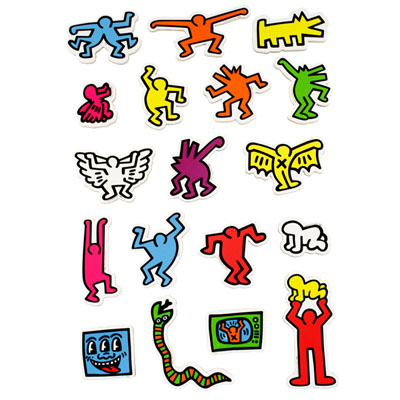 Magnets Keith Haring:  personnages Vilac à 14,99 € - Stickboutik.com