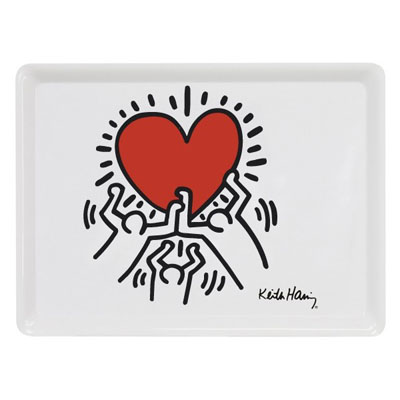 Plateau Heart - Large Keith Haring à 12,90 € - Stickboutik.com