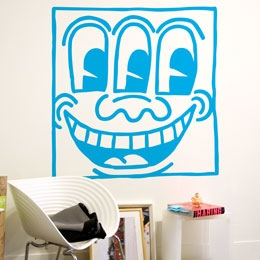 Untitled Face Blue G...  Keith Haring: Wall Sticker & Wall Decal Image - Only on Stickboutik.com