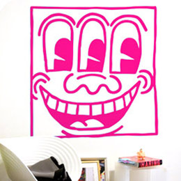Stickers muraux Untitled Face XXL par Keith Haring