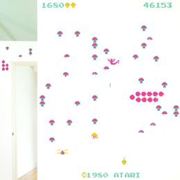 Geek & Gaming Wall Stickers  Centipede - Giant Wall Stickers by  Atari  - Original and exclusive Geek & Gaming Wall Stickers on Stickboutik.com