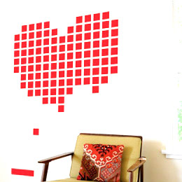 Geek & Gaming Wall Stickers  Heart BreakOut - Retrogaming Giant Wall Sticker by  HybridDesign - Original and exclusive Geek & Gaming Wall Stickers on Stickboutik.com