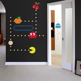 Ghosts - Giant Wall ... PacMan: Wall Sticker & Wall Decal Image - Only on Stickboutik.com