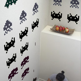 Special Deal Giant Wall Stickers Space Invaders