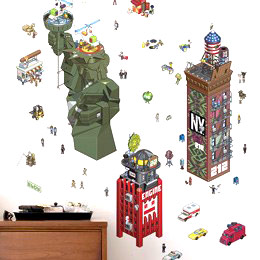 Geek & Gaming Wall Stickers  NewYork City - eCity Wall Stickers by  eBoy - Original and exclusive Geek & Gaming Wall Stickers on Stickboutik.com
