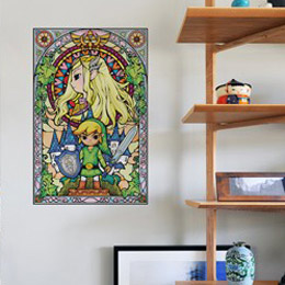 Geek & Gaming Wall Stickers  Zelda Wind Waker: Princess Wall Decals by  Nintendo - Original and exclusive Geek & Gaming Wall Stickers on Stickboutik.com