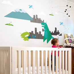 TRex - Kids Wall Sti...  BabyBot: Wall Stickers & Wall Decals