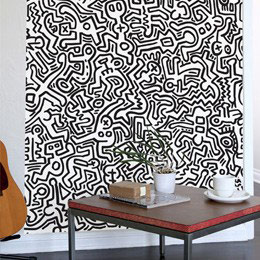 Urban & PopArt Wall Stickers Movement - Black Giant Wall Murals by  Keith Haring - Original and exclusive Urban Art, Street Art & PopArt Wall Stickers on Stickboutik.com