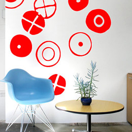 Circles - Big Red St...  Charles & Ray EAMES: Wall Sticker & Wall Decal Image - Only on Stickboutik.com