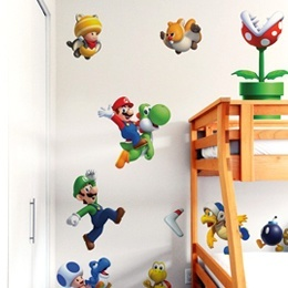 Geek & Gaming Wall Stickers  NewSuperMario Bros.U  [Large]  by  Nintendo  - Original and exclusive Geek & Gaming Wall Stickers on Stickboutik.com