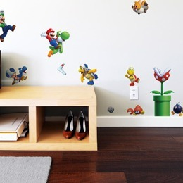 Geek & Gaming Wall Stickers  NewSuperMario Bros.U  [Mini]  by  Nintendo  - Original and exclusive Geek & Gaming Wall Stickers on Stickboutik.com
