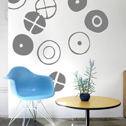 Circles - Big Graphi...  Charles & Ray EAMES: Wall Sticker & Wall Decal Image - Only on Stickboutik.com
