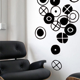 Circles - Small Blac...  Charles & Ray EAMES: Wall Sticker & Wall Decal Image - Only on Stickboutik.com