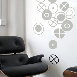 Circles - Small Grap... Charles & Ray EAMES: Wall Sticker & Wall Decal Image - Only on Stickboutik.com