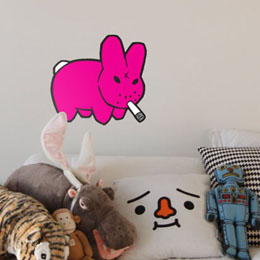 Sticker muraux Smorkin Labbit - S par KidRobot - Sticker muraux géants inédits & officiels!