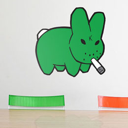 Sticker muraux Smorkin Labbit - M par KidRobot - Sticker muraux géants inédits & officiels!