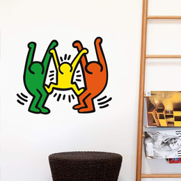 Urban & PopArt Wall Stickers Family Wall Sticker by  Keith Haring - Original and exclusive Urban Art, Street Art & PopArt Wall Stickers on Stickboutik.com