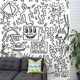 Urban & PopArt Wall Stickers Symbols - Black Giant Wall Murals by  Keith Haring - Original and exclusive Urban Art, Street Art & PopArt Wall Stickers on Stickboutik.com