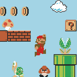 Geek & Gaming Wall Stickers  Super Mario Bros. x30 Giant Wall Stickers by Nintendo - Original and exclusive Geek & Gaming Wall Stickers on Stickboutik.com