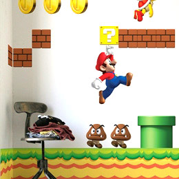 Geek & Gaming Wall Stickers  NEW Super Mario Bros. x24 Wall Sticker Decals by Nintendo - Original and exclusive Geek & Gaming Wall Stickers on Stickboutik.com