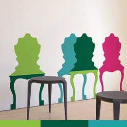 Sticker muraux Chair Mix A Lot par Studio Ha... - Stickers muraux Géant: Soldes & Bon Plans Stickboutik.com, originaux et inédits