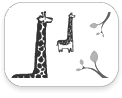 stickboutik.com - Giraffe par Wee Gallery - Re-Positionnables