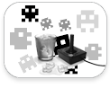 stickboutik.com - Mini Space Invaders + glaçons Ice Pack