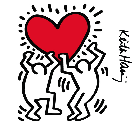 Dancing Heart Giant Wall Sticker  Keith Haring: Wall Sticker & Wall Decal Main Image