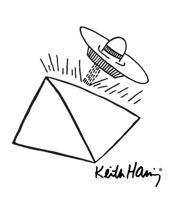 Sticker Spaceship Pyramid  Keith Haring - 2/3