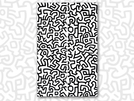 PopShop Giant Wall Murals  Keith Haring: Sticker / Wall Decal Outline