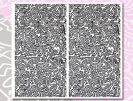 Movement   Black Giant Wall Murals Keith Haring: Sticker / Wall Decal  Outline Part 56