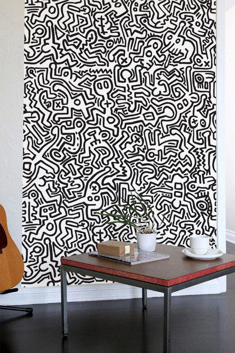 Movement - Black Giant Wall Murals by Keith Haring- Giant Wall ...