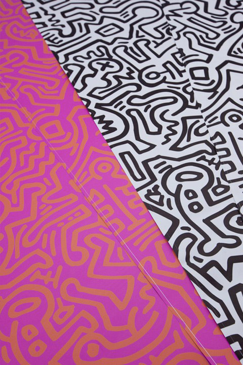 Fresque Murale Movement Rose  par  Keith Haring
